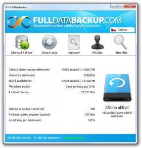 FullDataBackup 1.1.0 - náhled