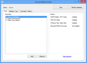 Home Media Center 2.9 - náhled