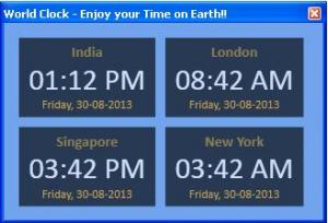 Cool World Clock 1.0.7 - náhled