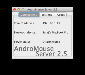 AndroMouse 6.3 - náhled