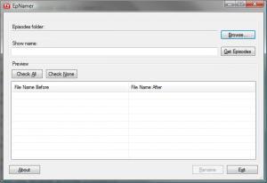 EpNamer Portable 1.3.0 - náhled