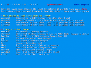 SystemRescueCD 6.0.3 - náhled