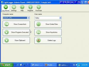 LightLogger Keylogger for Parents 3.3.5.5 - náhled