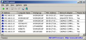 NetBScanner 1.11 - náhled