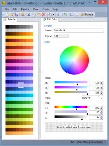 Cyotek Color Palette Editor 1.0.1.1 - náhled