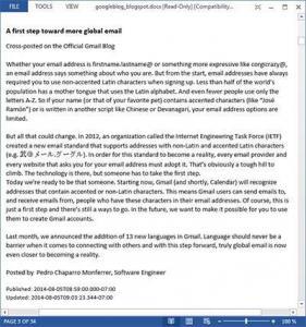 Blogspot To Doc 1.6.2 - náhled