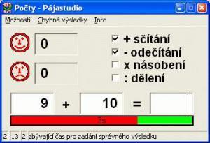 základní formulář - časový limit pro zadání výsled - náhled