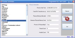 Process Terminator 1.0 - náhled