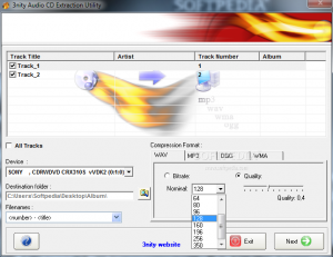 3nity Audio CD Extractor 1.0 - náhled