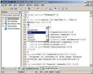 AkelPad 4.9.8 - náhled