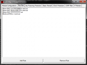 fireBwall 0.3.12.1 - náhled