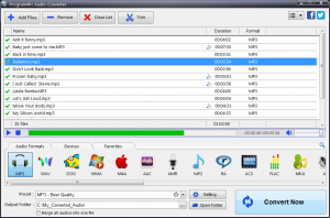 Program4Pc Audio Converter 3.1 - náhled