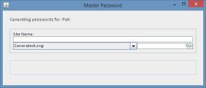 Master Password 1.0 - náhled
