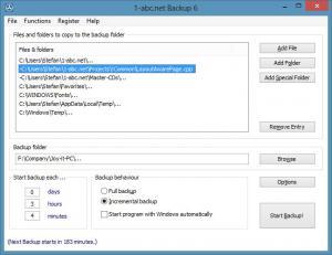 1-abc.net Backup 6.00 - náhled