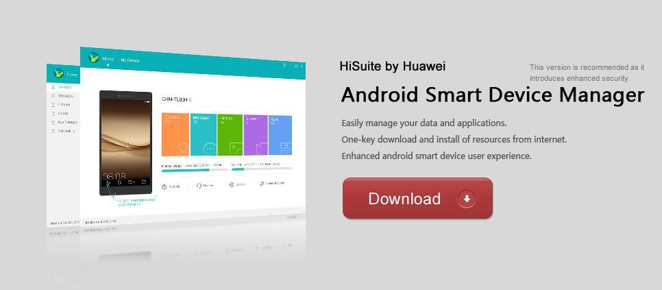 huawei p8 lite pc hisuite download free