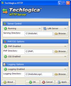 Techlogica HTTP Server 1.03 - náhled