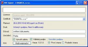 PDF Signer - náhled