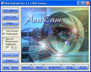 RGS-AvaCam 3.2.0 - náhled