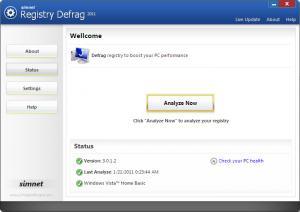 Simnet Registry Defrag 2011 3.1.3. - náhled