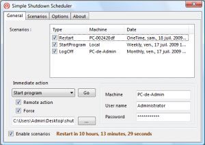 Simple Shutdown Scheduler 1.1.0 - náhled