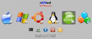 rEFInd 0.8.4 - náhled