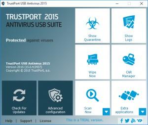 TrustPort USB Antivirus 2012 - náhled
