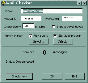Mail Checker - náhled