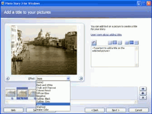Microsoft Photo Story 3 - náhled
