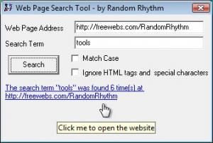 Web Page Search Tool 3.3.1 - náhled