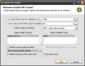 Quick AVI Creator 3.05.16.2010 - náhled