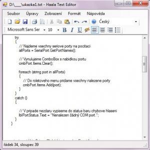 Haala Text Editor - náhled