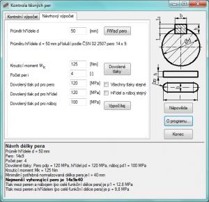 Kontrola těsných per 1.0.3 - náhled