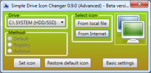 Simple Drive Icon Changer 0.9.0 - náhled