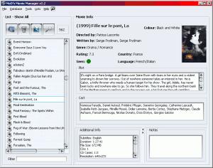MeD's Movie Manager 2.5.4.1 - náhled