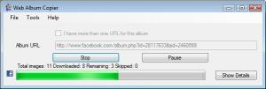 Web Album Copier 0.3.35 beta - náhled