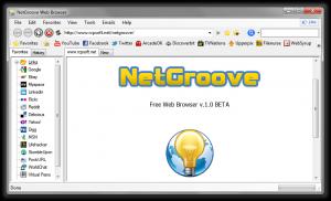 NetGroove 1.0 Beta - náhled