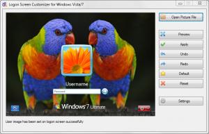 VSLogonScreenCustomizer 1.7.3.251 - náhled