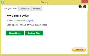 Gackup 0.9.1 - náhled