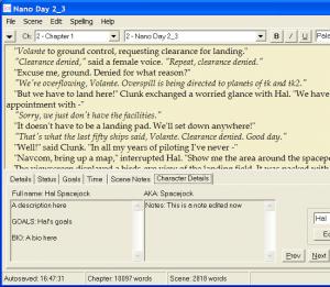 yWriter 5.1.9.7 - náhled