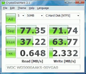 CrystalDiskMark 5.2.0 - náhled