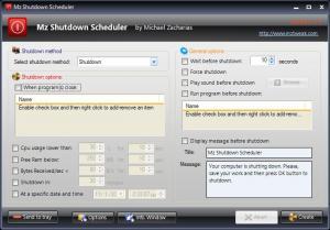 Mz Shutdown Scheduler 2.1.0 - náhled