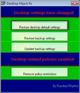 Desktop Hijack Fix 1.3.7 - náhled