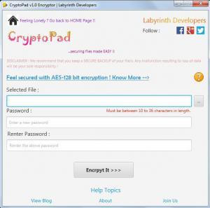 CryptoPad 2.0 - náhled