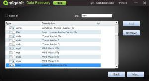Amigabit Data Recovery Free 2.0.6.0 - náhled
