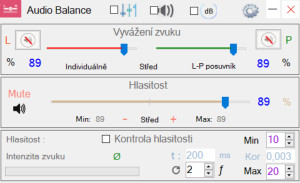 Audio Balance - náhled