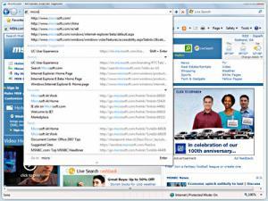 MS Internet Explorer 8 - náhled