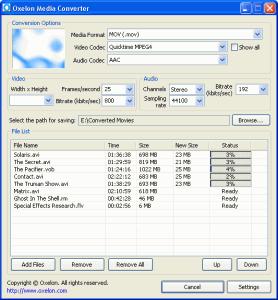 Oxelon Media Converter 1.1 - náhled