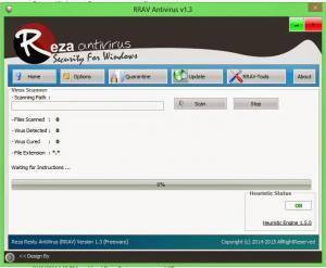 RRAV Antivirus 2.5 - náhled