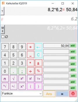 Kalkulačka IQ2018 - náhled