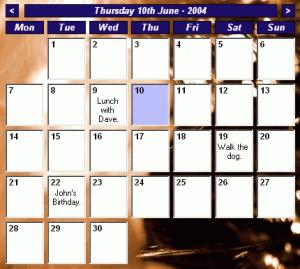 Desktop Calendar 0.42 - náhled